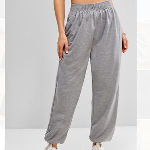 Zaful grey sweatpants!!